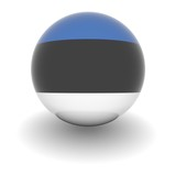 High resolution ball with flag of Estonia poster