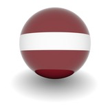 High resolution ball with flag of Latvia poster
