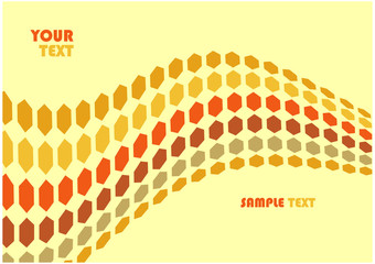 Hex waves vector background with copyspace for your text