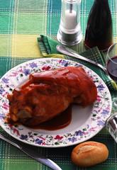 Stinco di maiale al vino bianco - Secondi di carne del veneto