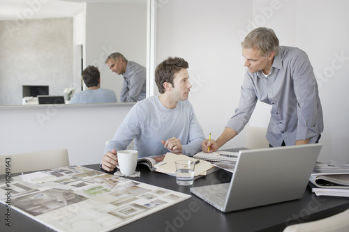 Designers collaborating in office