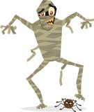 Mummy halloween character vector illustration poster