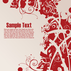 floral background with free space for your text