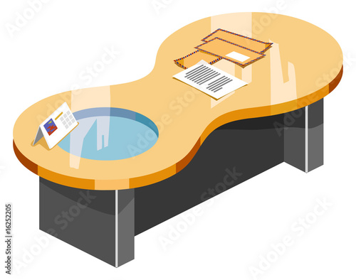 Isometric desk vector