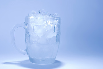 ice cube in glass