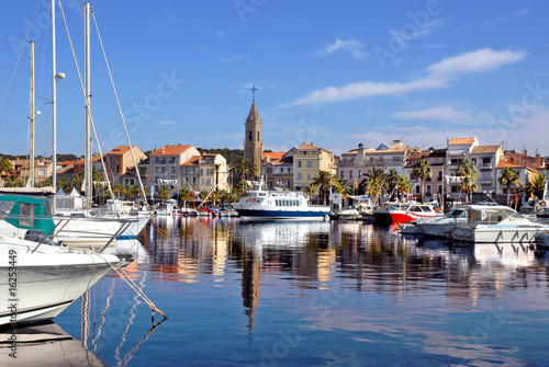 Leinwanddruck Bild Port de Sanary sur mer en france