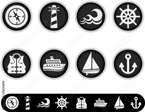 white marine icons