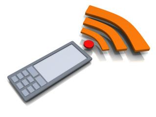 phone gprs bluetooth wi-fi internet call illustration white