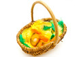 wicker basket with egg