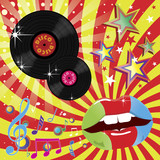 Fototapety Disco Music and Dance Event Illustration