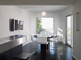 Interior of modern dining room