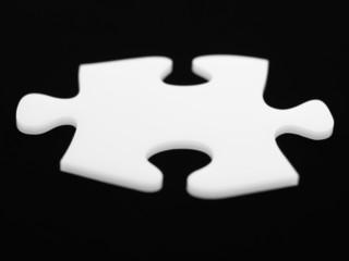 Close up of single puzzle piece