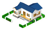 House Isometric Vector poster