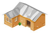 Poor House Isometric Vector poster