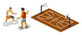 Basketball Isometric vector poster