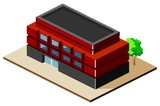 Building Isometric vector