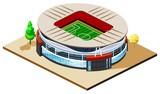 Soccer Stadium Isometric poster
