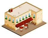 Coffee Shop Isometric poster