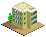 Building Isometric vector poster