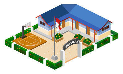 School Isometric