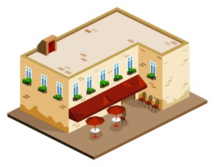 Coffee Shop Isometric