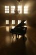 Leinwanddruck Bild - Grand Piano in Light