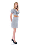 Full length portrait of a young businesswoman poster