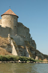 Old fortress on the river bank in Belgorod-Dnestrovsky,Ukraine