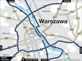 Fototapety Stadtplan Warschau