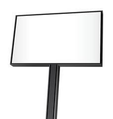 Nice billboard isolated on white background