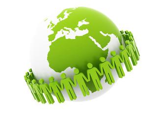 Global Team Concept around Africa