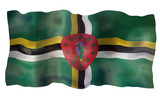 Vintage Flag of Dominica