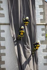 Feuerwehr abseilen