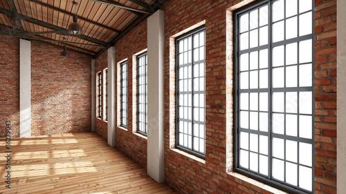 Leinwanddruck Bild Still Indoor #16 - Halle