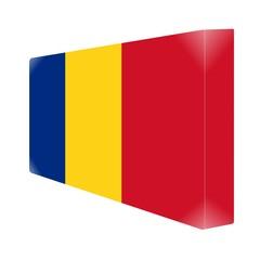 brique glassy avec drapeau roumanie romania