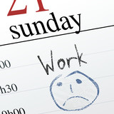 Unhappy Sunday Work poster
