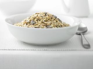Close up of healthy cereal