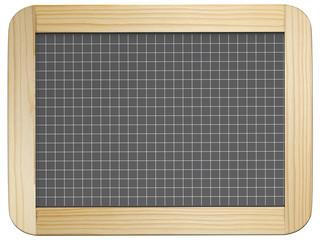 Ardoise quadrillée cadre pin 6