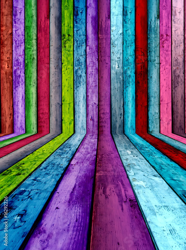 Colorful Wooden Interior Background