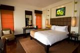 Oriental style hotel room at spa resort