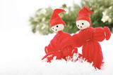 Two Christmas elves. poster