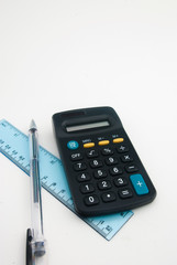 pocket calculator and office stationary