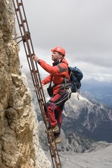 mounteineer in dolomite