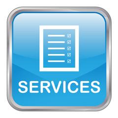 "Square vector ""SERVICES"" button (blue)"