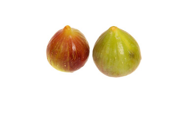 juicy green and brown figs