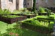 Leinwanddruck Bild - Medieval herb- and flower garden