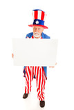Grumpy Uncle Sam wiith Sign poster