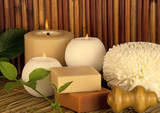 Fototapety Spa Natural With Candles and Bamboo