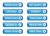 Web buttons (Miscellaneous) (vector; blue) (x10) poster