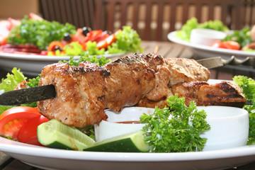 shashlik, kebab